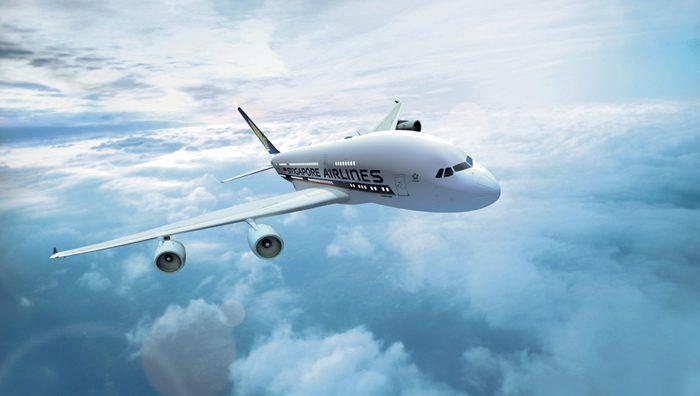 Un aereo Singapore Airlines.