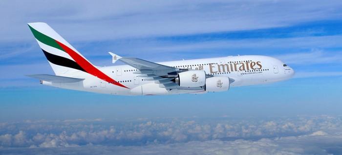 Un A380 di Emirates