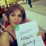 Claudia Gerini per la campagna Don¹t look away di ECPAT contro lo sfruttamento sessuale dei minori
