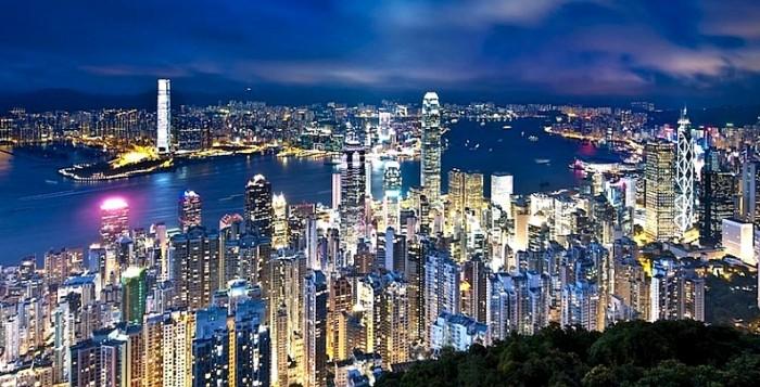 La famosa baia di Hong Kong