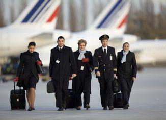 Un equipaggio di Air France
