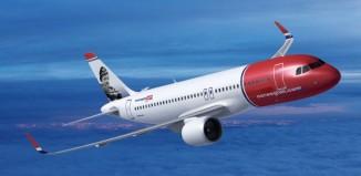 Un A320 della Norwegian.