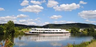 Una nave da crociera sul Danubio