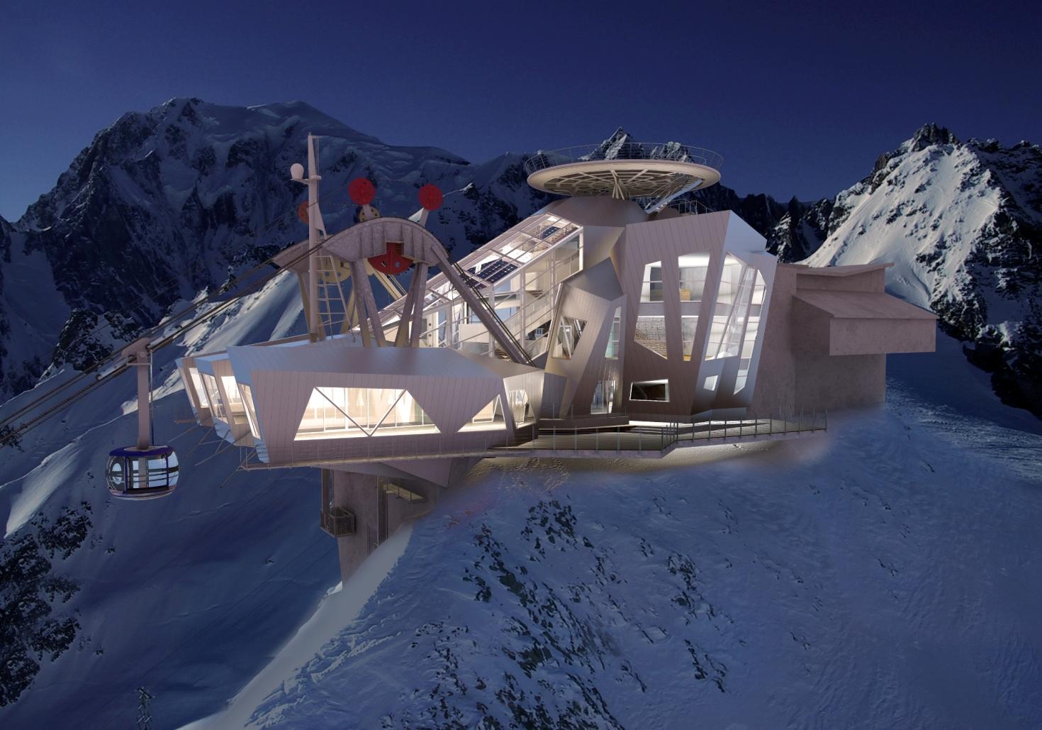La funivia skyway monte bianco tra le novit per la for Cabine di pesca nel ghiaccio alberta