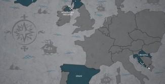 Il trono di spade, mappa location