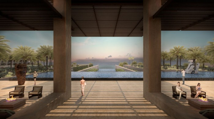 La lobby del Los Cabos Beach Resort & Spa di JW Marriott Hotels & Resorts, in Messico