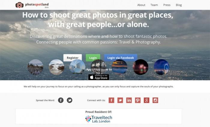 La piattaforma digitale Photospotland