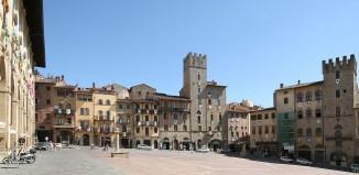 Piazza Grande, Arezzo, Toscana.