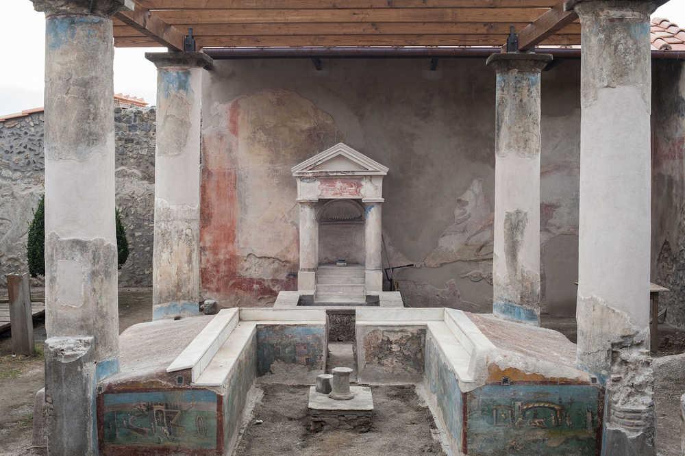 Pompei, Casa dell'Efebo Regio I 7,10-12.19 - Epoca di scavo 1912, 1925/27