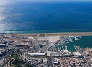 Immagine aerea dell'aeroporto di Bergamo.