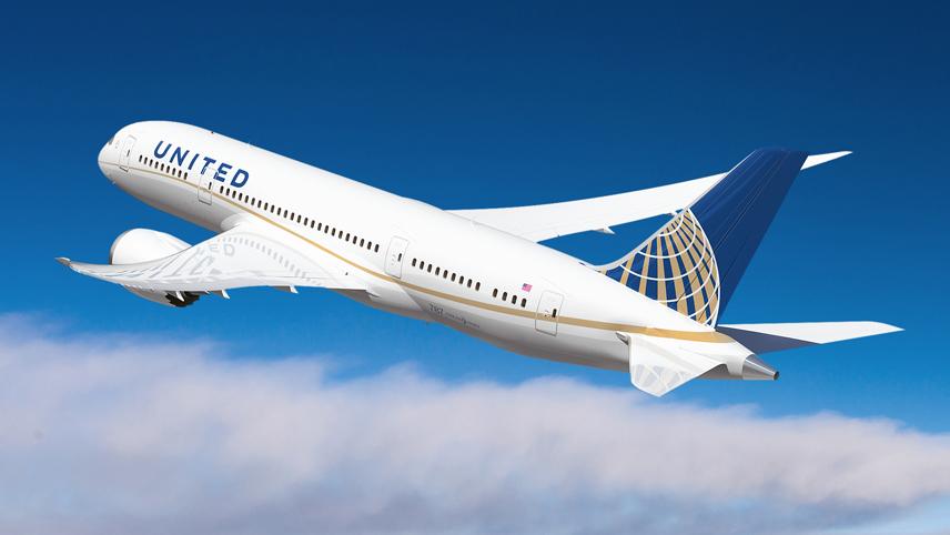 Il B787 Dreamliner di United