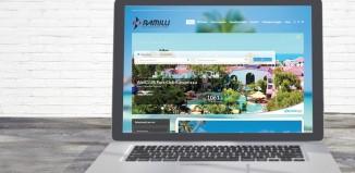 Lo screenshot del sito di Viaggi Ramilli
