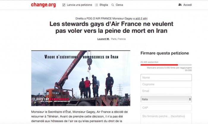 La petizione su change.org lanciata dagli steward gay di Air France