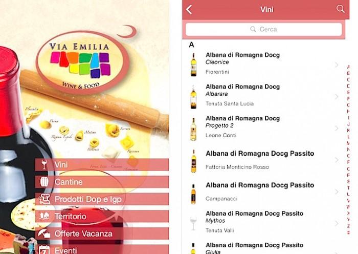 Nuova app Via Emilia Wine&Food