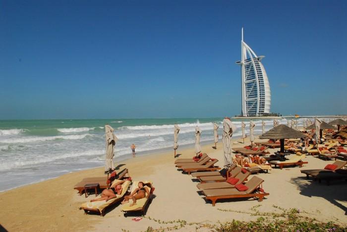Spiaggia a Dubai