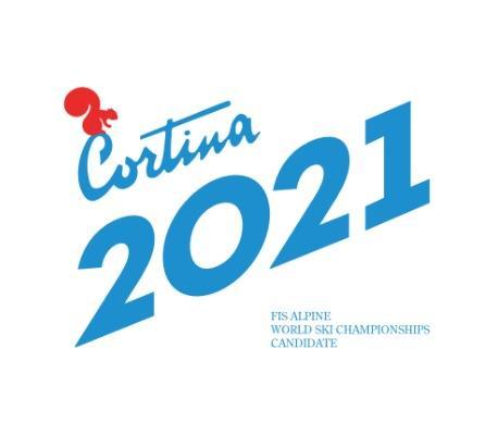 Cortina d'ampezzo - logo mondiali di sci 2021