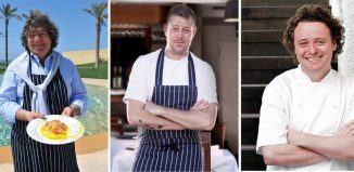 Fulvio Pierangelini con gli chef Adam Byatt e Tom Kitchin