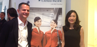Erica Peng, Country Manager Italy e Daniele Bordogna, Sales & Marketing Manager Italy di Cathay Pacific