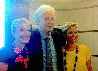 Da sinistra, Elena David, Gianni Bastianelli e Carlotta Ferrari