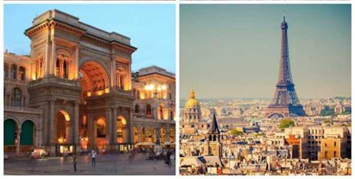 Milano e Parigi, due delle principali capitali della moda