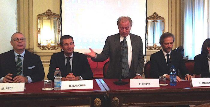Da sinistra, Marco Peci; Beppe Banchini; Franco Iseppi; Lamberto Mancini