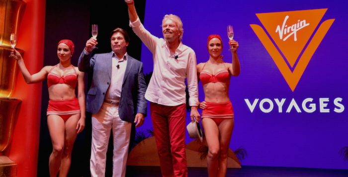 Sir Richard Branson presenta Virgin Voyages