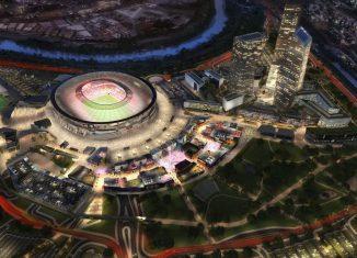 Il progetto del nuovo stadio della Roma. Foto: www.asroma.com