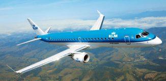 L'Embraer 190 dii KLM