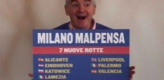 Michael O'Leary a Malpensa