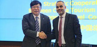 Il presidente Cta Dai-Bin e il direttore Etc Eduardo Santander