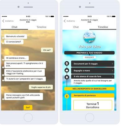 Eva il sistema di chat support di Vueling
