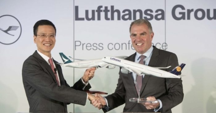 Accordo di code-sharing tra Cathay Pacific e Lufthansa Goup