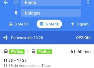 Flixbus, integrazione con Google Maps