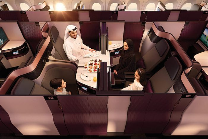 La nuova QSuite di Qatar Airways