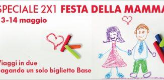 Trenitalia, promozione 2x1 in occasione della festa della mamma