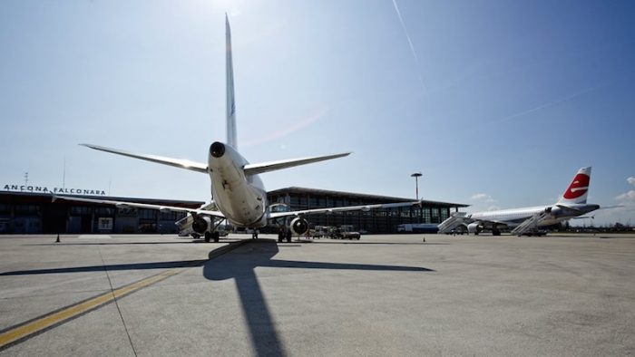 Aeroporto Ancona Falconara. Foto Facebook