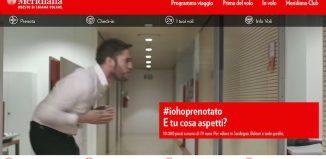 Meridiana lancia la campagna #iohoprenotato
