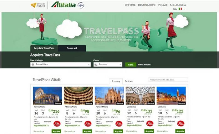alitalia travelpass
