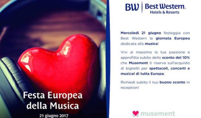 Best Western celebra la Festa europea della musica con sconti su Musement