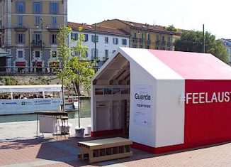 Casa Austria sulla Darsena a Milano. Foto Askanews