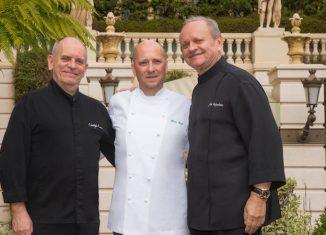 Heinz Beck a Montecarlo con Joël Robuchon e Christophe Cussac