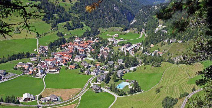 Bergün, in Svizzera