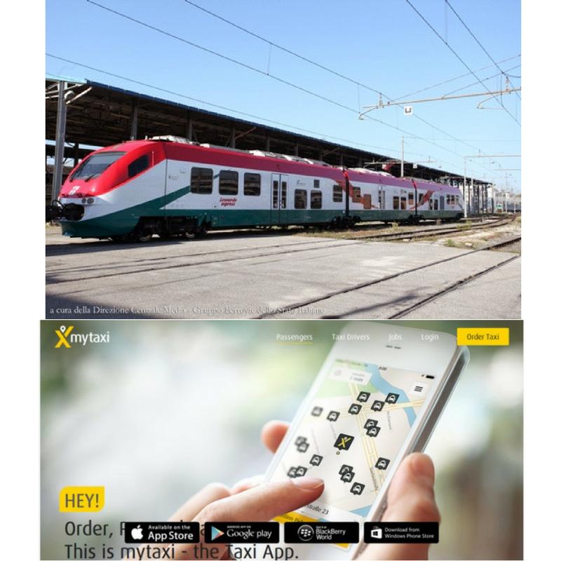 Trenitalia e mytaxi: integrazione treno-taxi per un viaggio sempre più smart