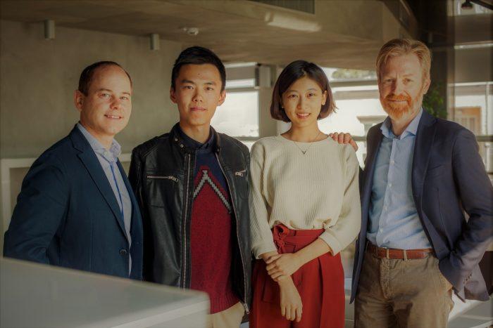 da sinistra Roger Bisschoff, Yubing Chen, Yiyi Fan, Alberto Melgrati